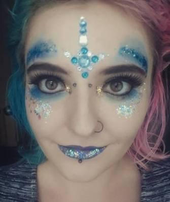festival glitter face